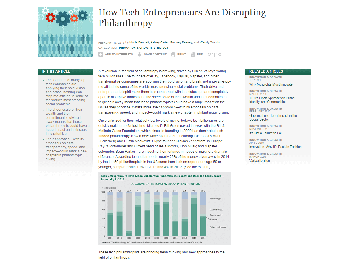 How Tech Entrepreneurs are Disrupting Philanthropy