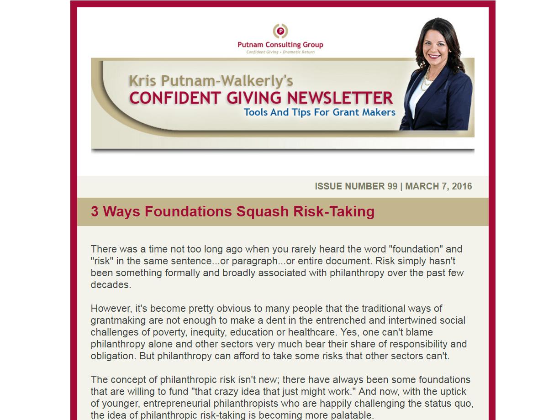 3 Ways Foundations Squash Risk-Taking